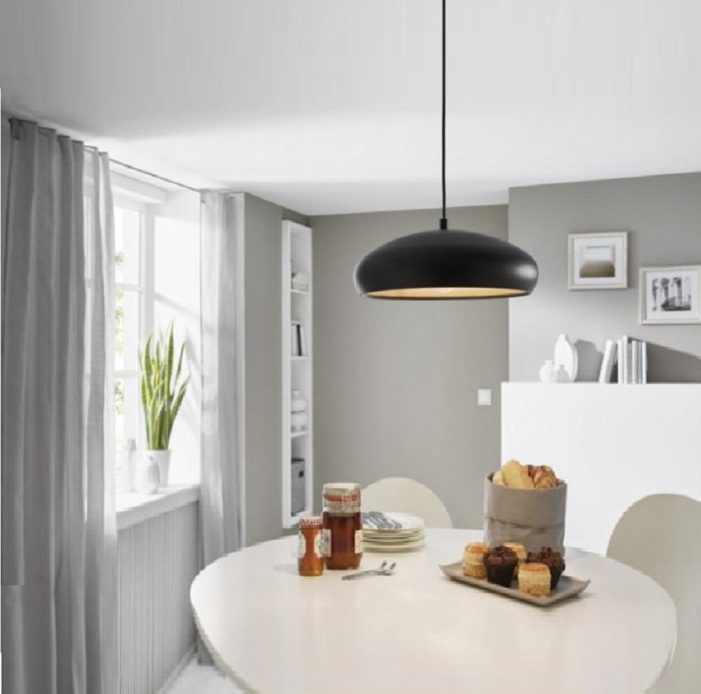 pendelleuchte 40cm in wei innen kupfer oder schwarz innen kupfer wohnlicht. Black Bedroom Furniture Sets. Home Design Ideas