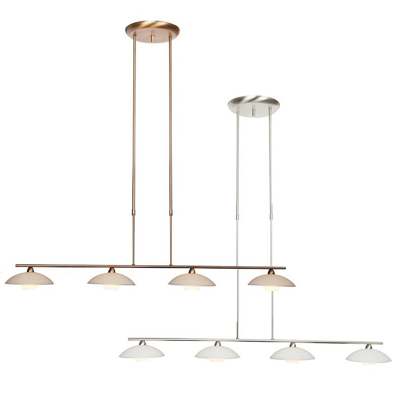 pendelleuchte 4 flammig mit glas h henverstellbar 2 farben wohnlicht. Black Bedroom Furniture Sets. Home Design Ideas