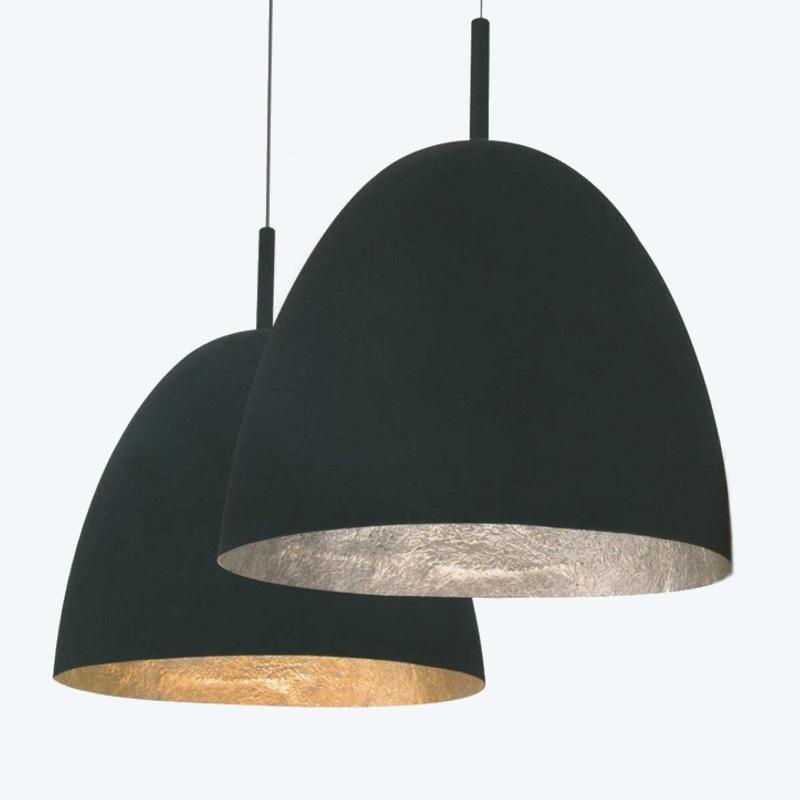 pendelleuchte 60cm innen gold oder silber mit schwarzem. Black Bedroom Furniture Sets. Home Design Ideas