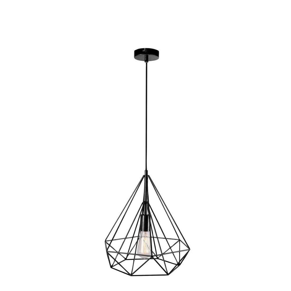 pendelleuchte aus draht schwarz wohnlicht. Black Bedroom Furniture Sets. Home Design Ideas