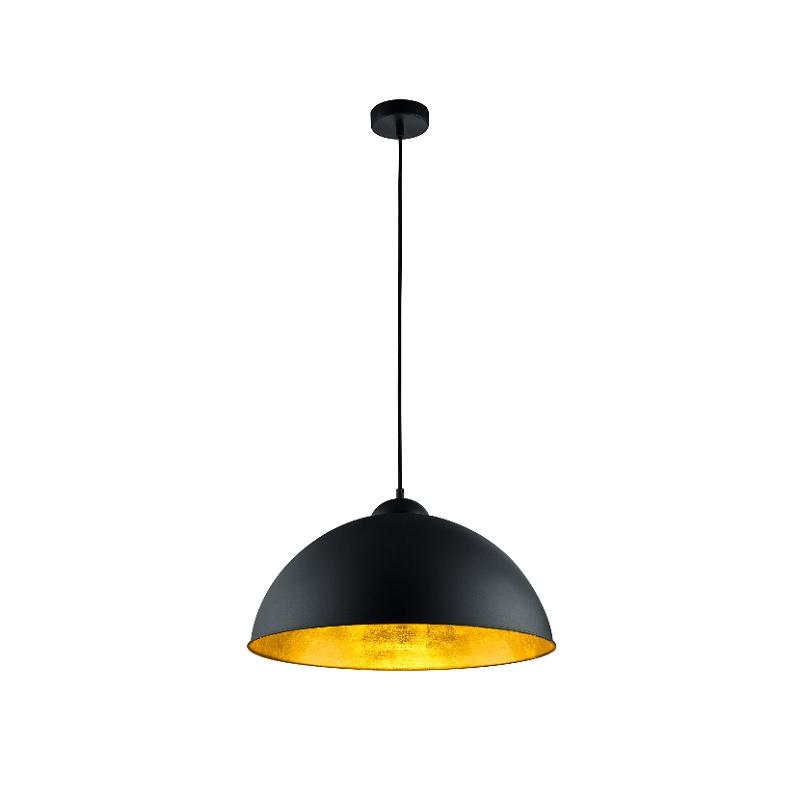 pendelleuchte aus metall im vintagestil schwarz gold. Black Bedroom Furniture Sets. Home Design Ideas