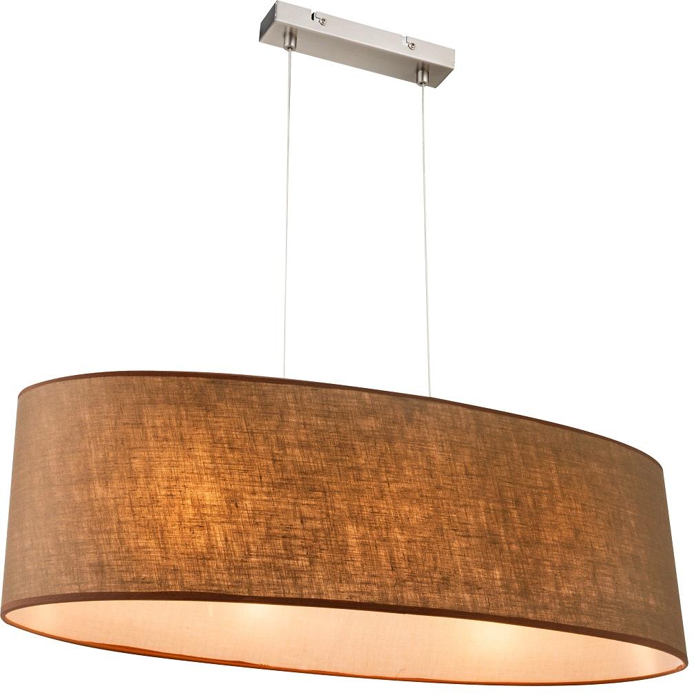 Pendelleuchte betty mit stoffschirm in braun wohnlicht for Pendelleuchte stoffschirm