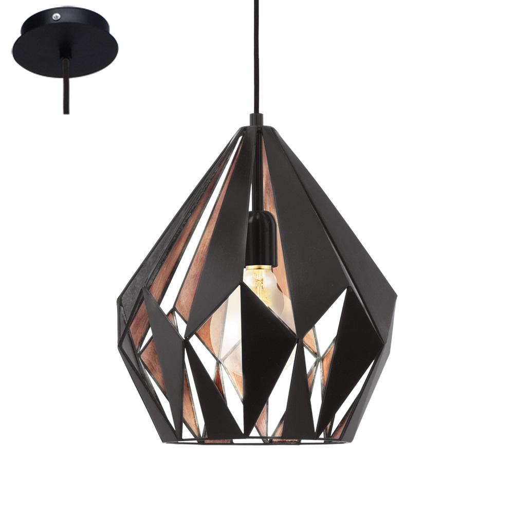 pendelleuchte carlton schwarz innen kupfer kupfer schwarz wohnlicht. Black Bedroom Furniture Sets. Home Design Ideas