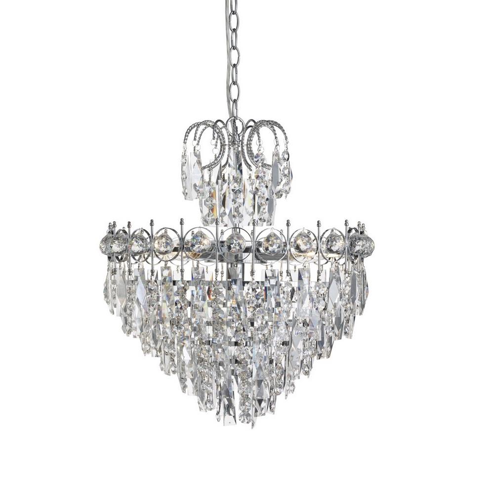pendelleuchte catherine aus chrom und kristallglas 5 flg. Black Bedroom Furniture Sets. Home Design Ideas
