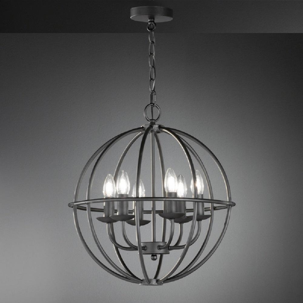 pendelleuchte cesto metall rostfarbig antik wohnlicht. Black Bedroom Furniture Sets. Home Design Ideas