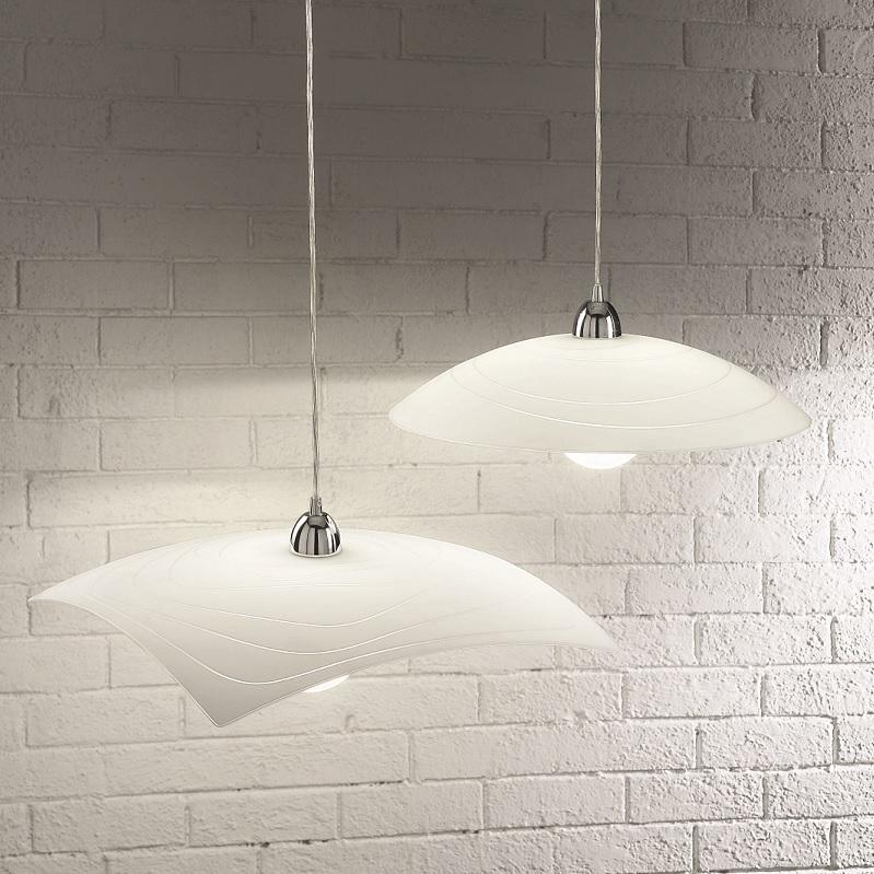 pendelleuchte f r die k che glas 2 formen wohnlicht. Black Bedroom Furniture Sets. Home Design Ideas