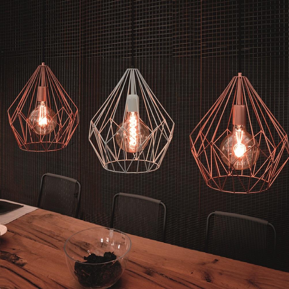 Pendelleuchte im industrie design 3 farben wohnlicht for Pendelleuchte industriedesign