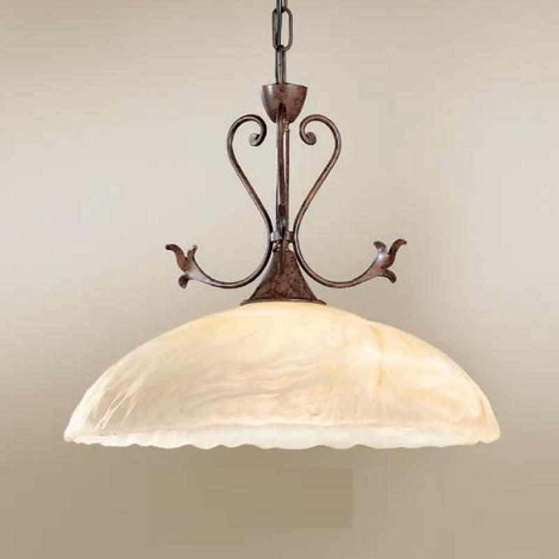 pendelleuchte im landhaus stil glas wei amber wohnlicht. Black Bedroom Furniture Sets. Home Design Ideas