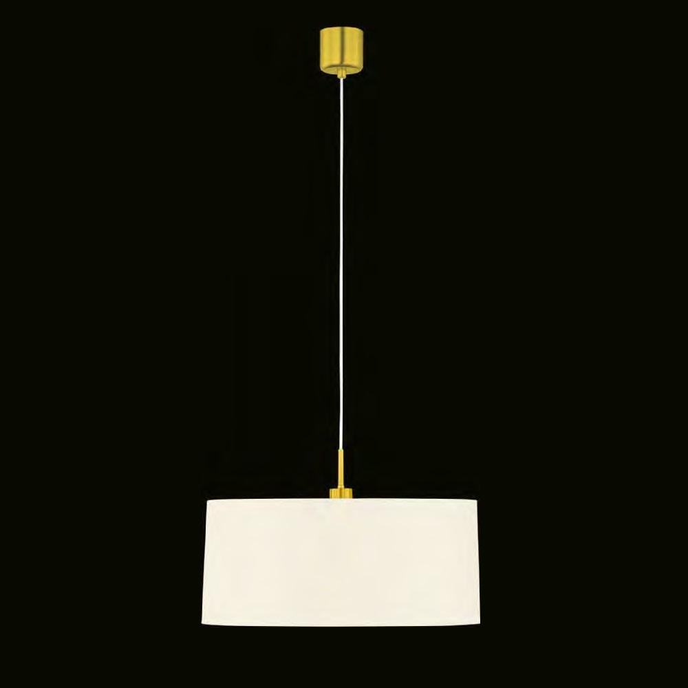 pendelleuchte loop in messing matt mit chintzschirm 2. Black Bedroom Furniture Sets. Home Design Ideas