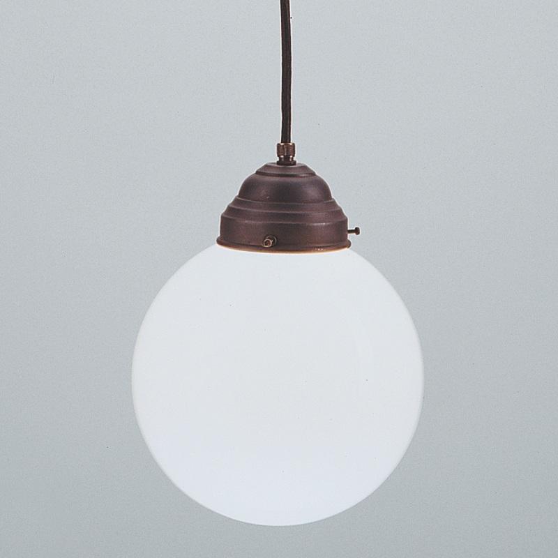 pendelleuchte in messing antik mit kugelglas 20 cm wohnlicht. Black Bedroom Furniture Sets. Home Design Ideas