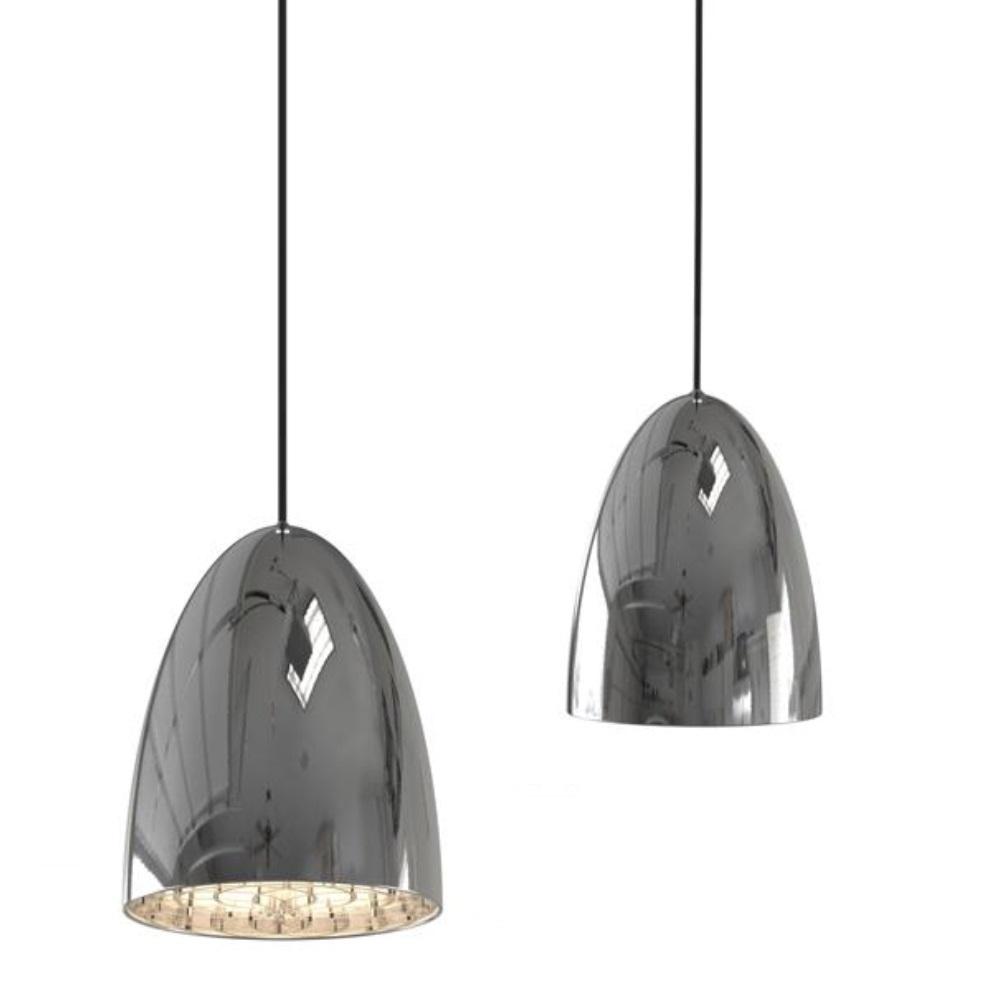 pendelleuchte mit filigranem dekoreinh nger im schirm schirm in chrom gl nzend 1x 40 watt. Black Bedroom Furniture Sets. Home Design Ideas