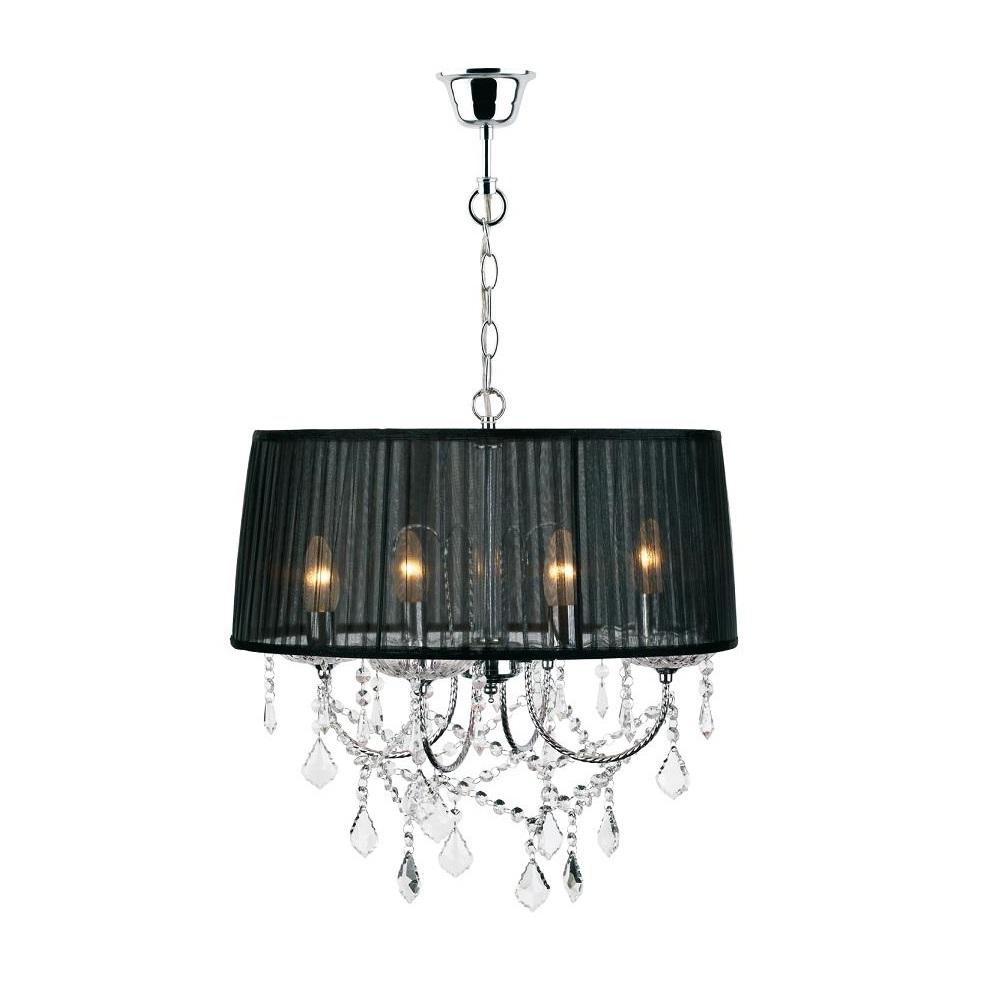 pendelleuchte mit plissee schirm 47cm schwarz oder lila wohnlicht. Black Bedroom Furniture Sets. Home Design Ideas