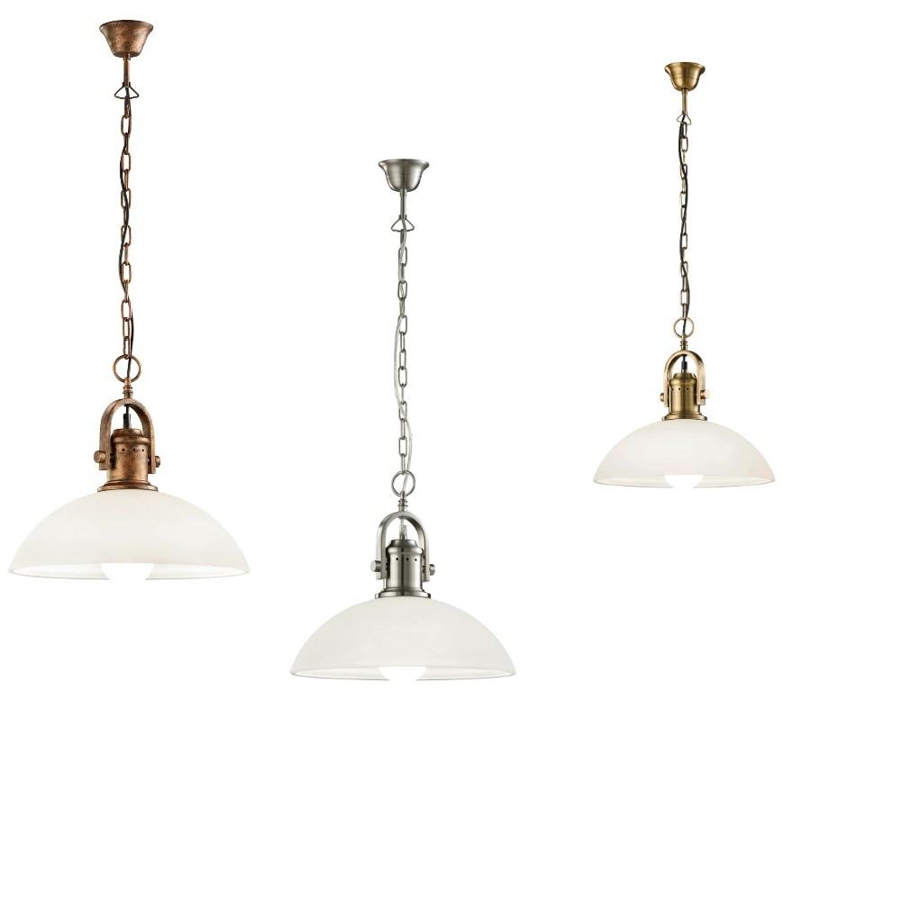 pendelleuchte montender metall glas wei wohnlicht. Black Bedroom Furniture Sets. Home Design Ideas