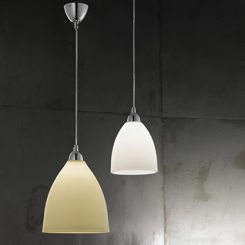 pendelleuchte provenza 2 gr en glas wei oder amber wohnlicht. Black Bedroom Furniture Sets. Home Design Ideas