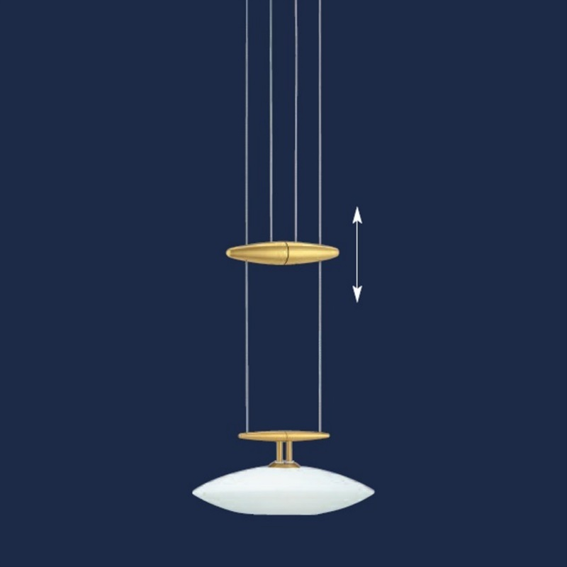 pendelleuchte saturn 1 flammig opalglas matt messing matt wohnlicht. Black Bedroom Furniture Sets. Home Design Ideas