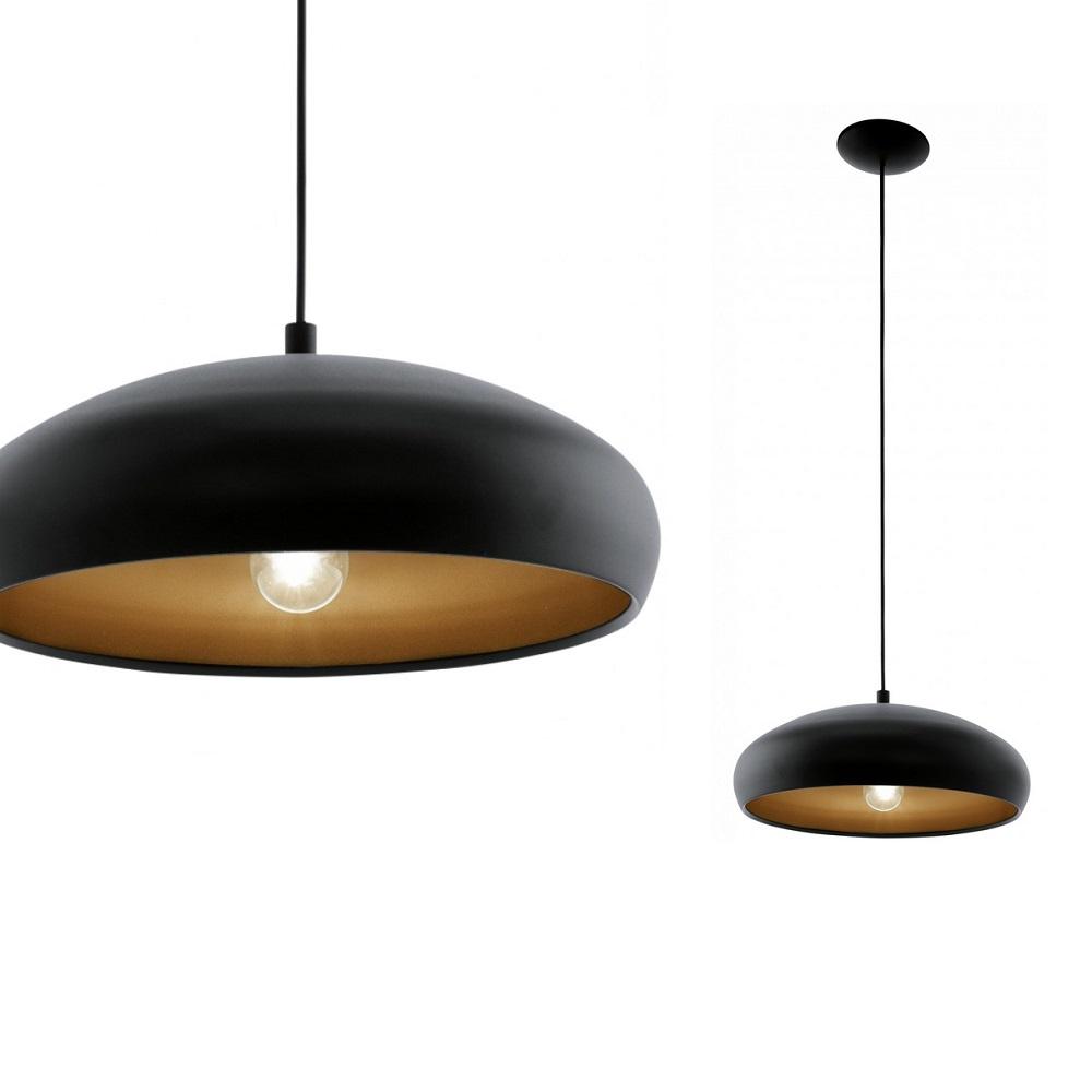 pendelleuchte 40 cm in schwarz innen kupfer schwarz kupfer wohnlicht. Black Bedroom Furniture Sets. Home Design Ideas