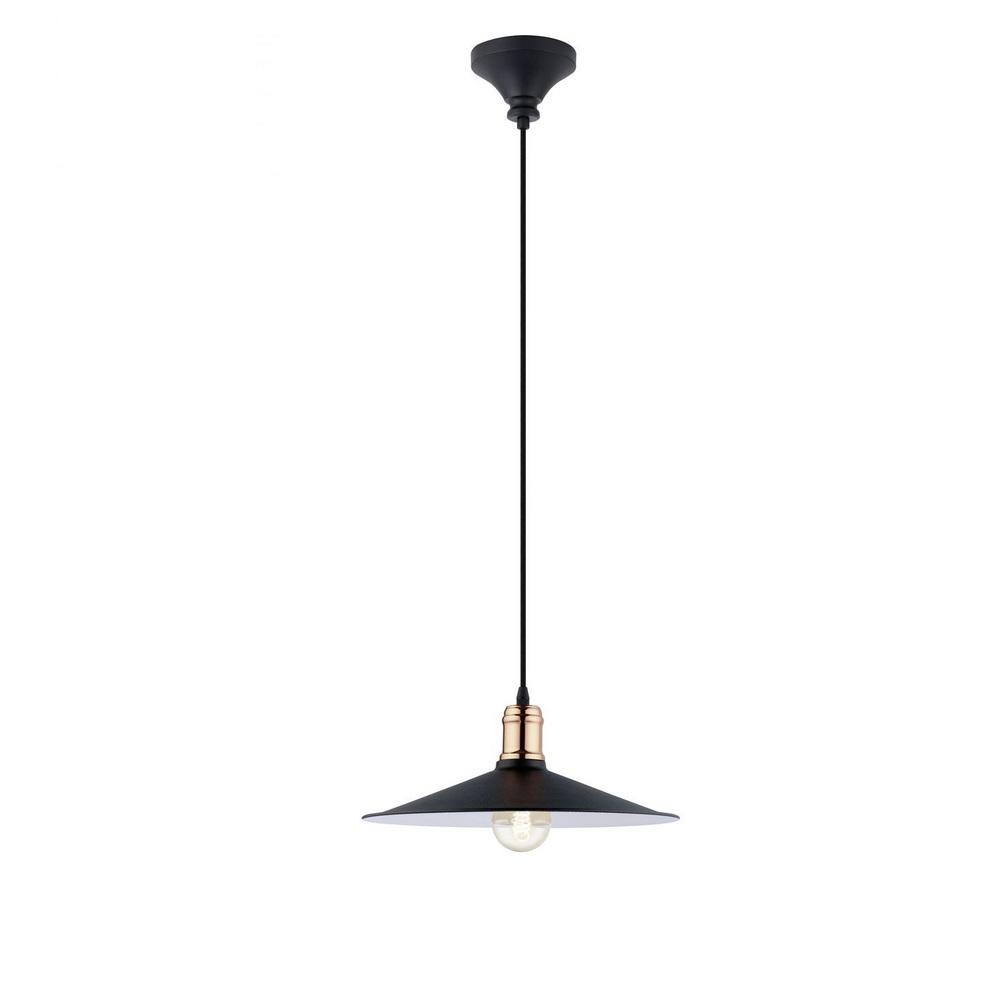 pendelleuchte schwarz kupferfarbig 36 cm kupfer schwarz wohnlicht. Black Bedroom Furniture Sets. Home Design Ideas
