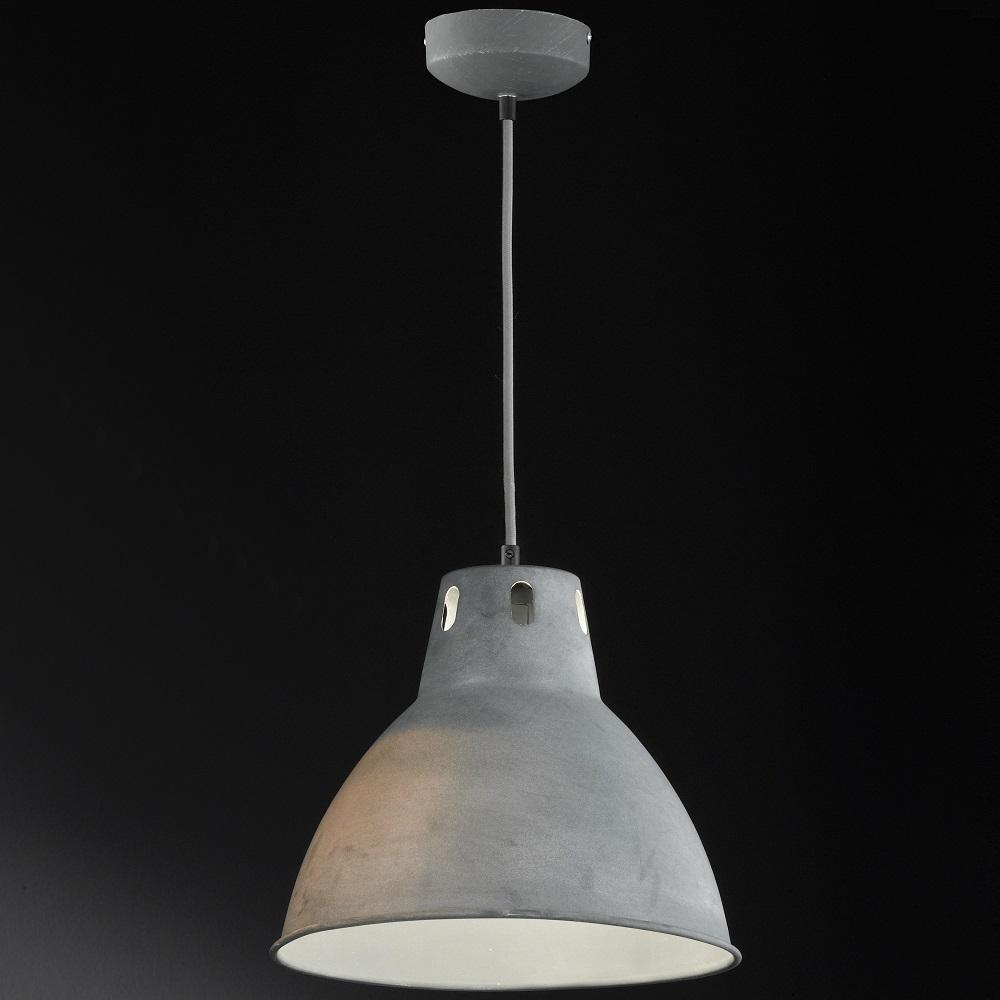 pendelleuchte sheffield aus metall in beton 31 cm wohnlicht. Black Bedroom Furniture Sets. Home Design Ideas
