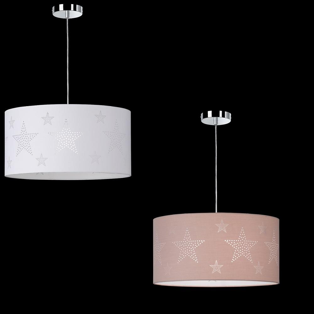 pendelleuchte stella schirm mit sterndekor 2 farben wohnlicht. Black Bedroom Furniture Sets. Home Design Ideas