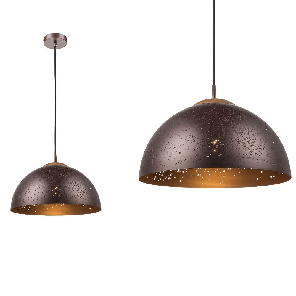 pendelleuchte tamor 40cm schirm bronze mit kuppel element holz bronze holzfarbig wohnlicht. Black Bedroom Furniture Sets. Home Design Ideas