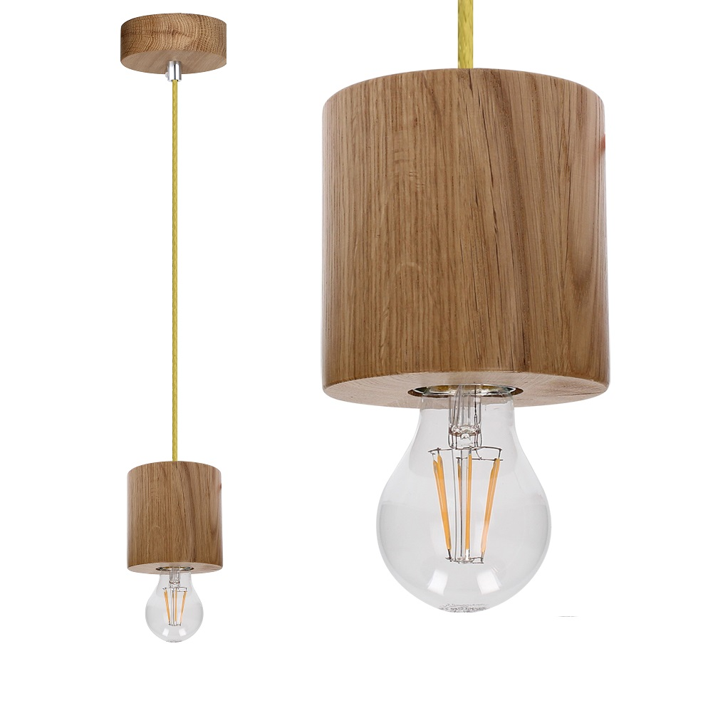 pendelleuchte trongo aus holz eiche ge lt zylinder kabel olive gr n olive wohnlicht. Black Bedroom Furniture Sets. Home Design Ideas