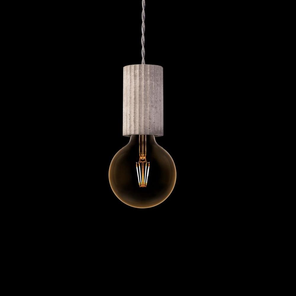pendelleuchte tulum beton kabel grau gedreht wohnlicht. Black Bedroom Furniture Sets. Home Design Ideas