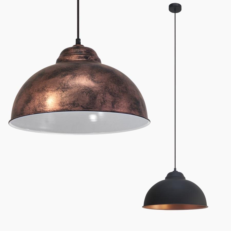 pendelleuchte im vintage stil kupferfarbig antik oder schwarz kupfer f r leuchtmittel e27 60. Black Bedroom Furniture Sets. Home Design Ideas