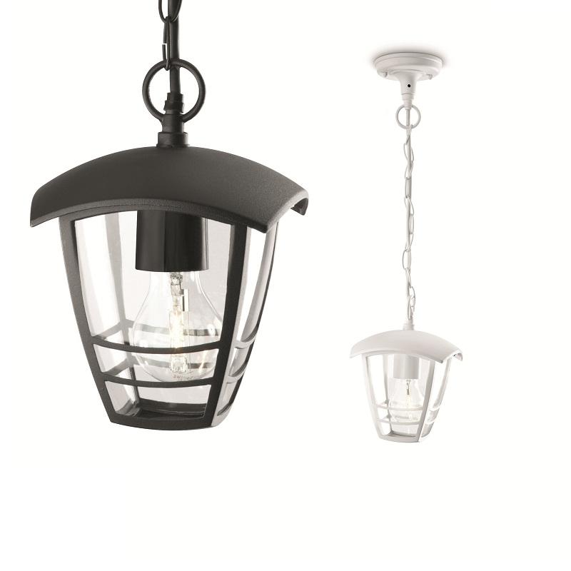 pendelleuchte in wei oder schwarz mit klarem acrylglas wohnlicht. Black Bedroom Furniture Sets. Home Design Ideas