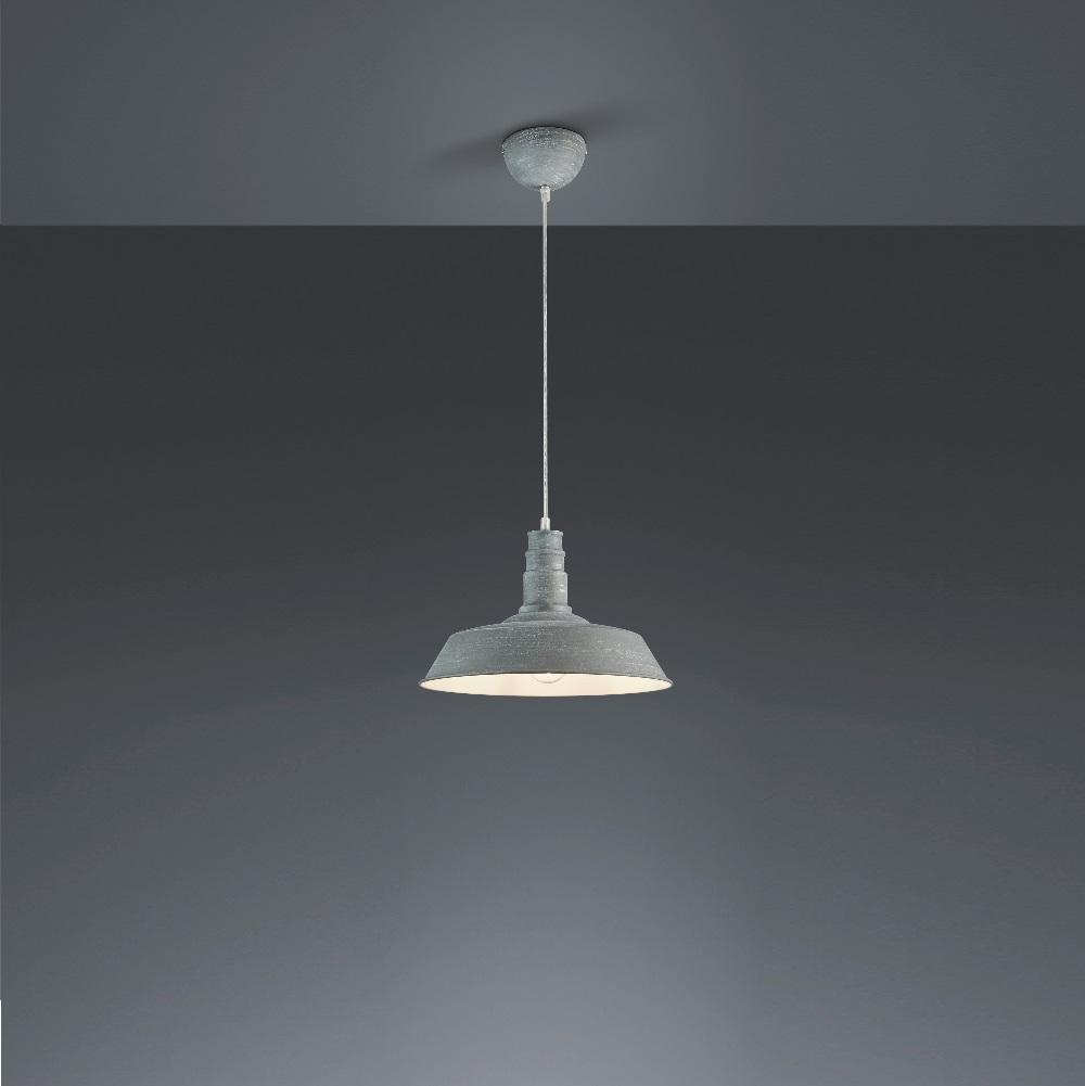 pendelleuchte will 36cm im industrie look in betongrau betongrau wohnlicht. Black Bedroom Furniture Sets. Home Design Ideas