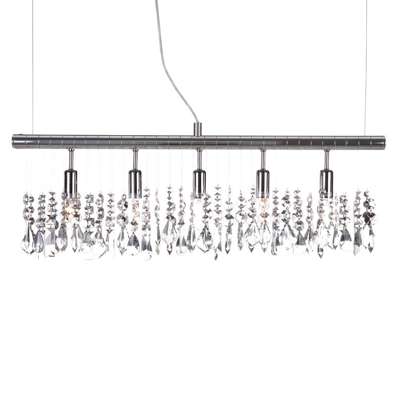 pendelleuchte 5 flammig kristall chrom wohnlicht. Black Bedroom Furniture Sets. Home Design Ideas