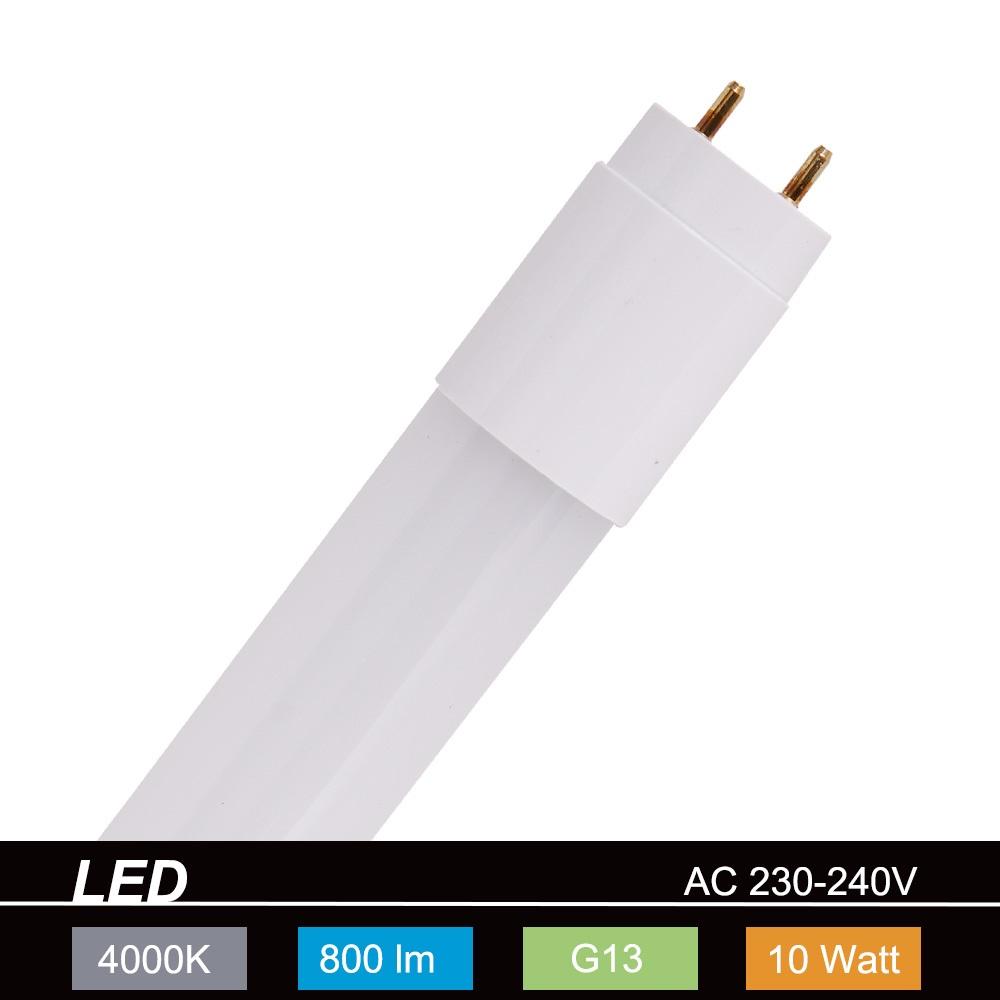 retrofit leuchtmittel led r hrenlampe sockel g13 10 watt 800 lumen 1x 10 watt 10 watt. Black Bedroom Furniture Sets. Home Design Ideas