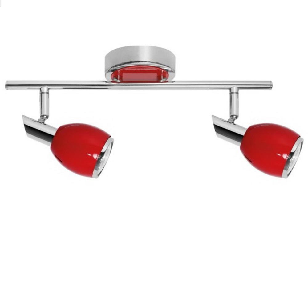 roter led strahler f r wand oder decke 2 flammig 2x 4 5 watt 36 00 cm 12 50 cm 2 flammig. Black Bedroom Furniture Sets. Home Design Ideas