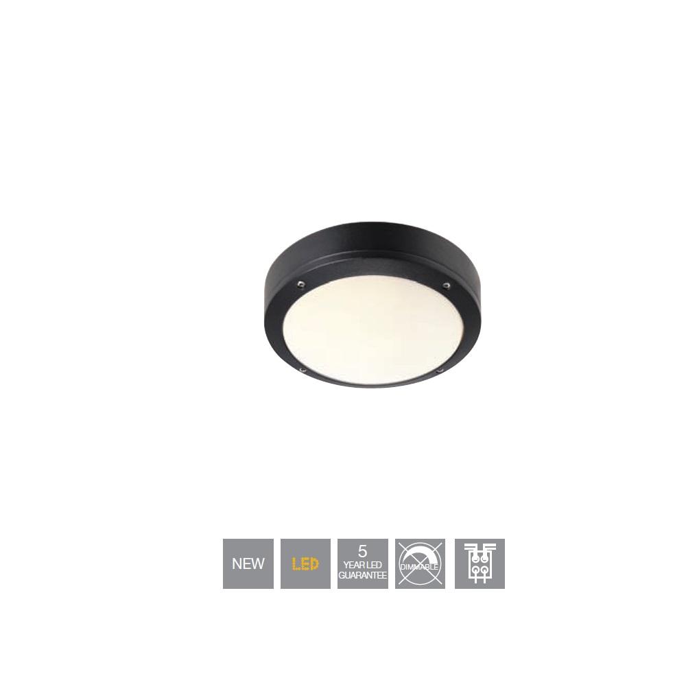 runde deckenleuchte 22 cm mit led 6watt 540lm wohnlicht. Black Bedroom Furniture Sets. Home Design Ideas