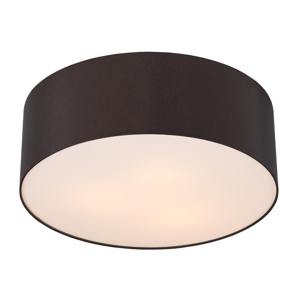 runde deckenleuchte mit lampenschirm aus chintz stoff 62cm mokka mokka wohnlicht. Black Bedroom Furniture Sets. Home Design Ideas