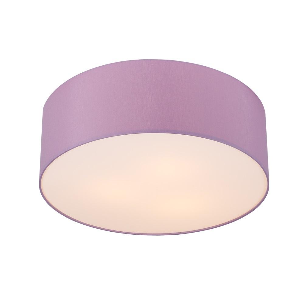 Runde deckenleuchte schirm aus chintz stoff flieder lila for Runde deckenleuchte