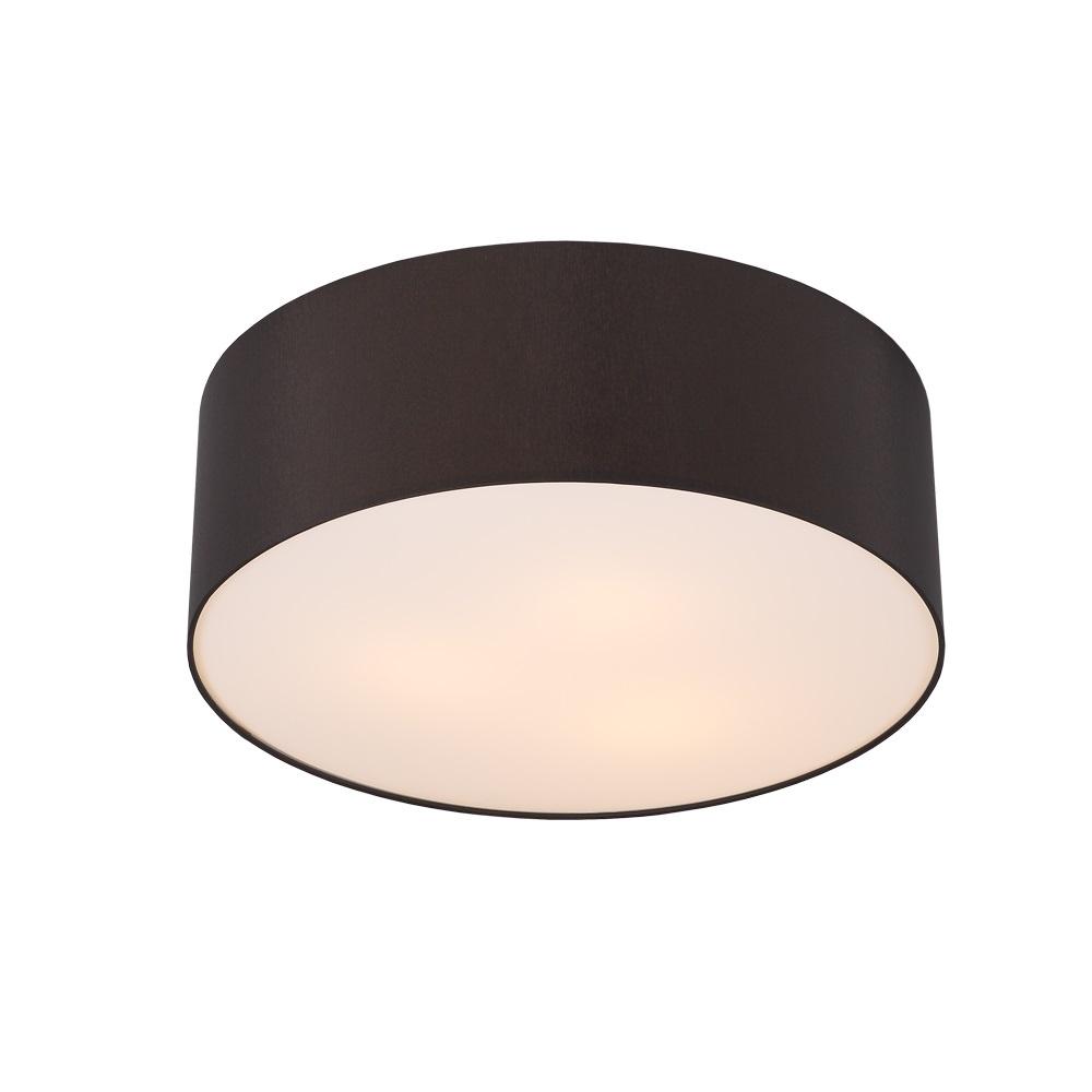 runde deckenleuchte schirm aus chintz stoff mokka 42 cm mokka wohnlicht. Black Bedroom Furniture Sets. Home Design Ideas