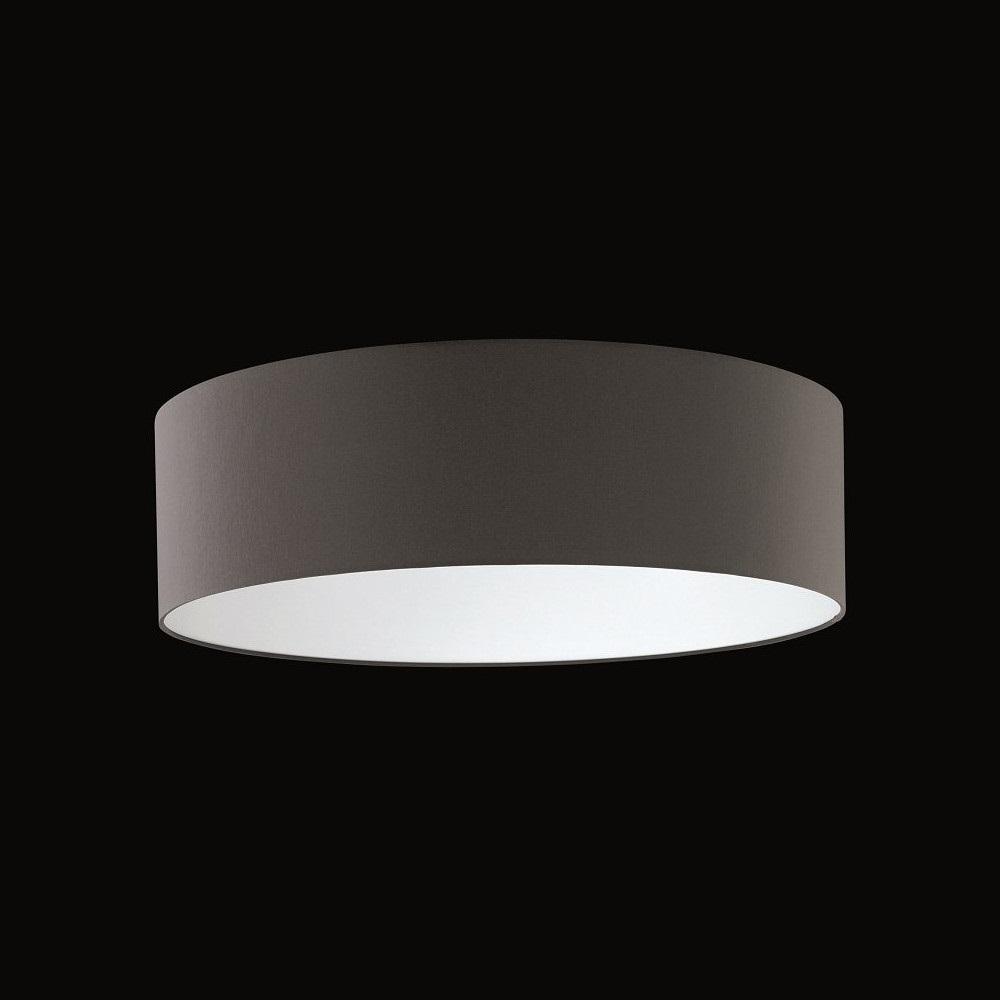 runder lampenschirm chintz stoff anthrazit 60 cm wohnlicht. Black Bedroom Furniture Sets. Home Design Ideas