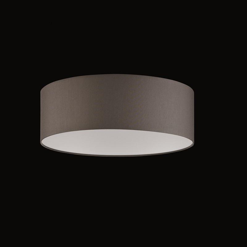 runder lampenschirm chintz stoff graubraun 40 cm wohnlicht. Black Bedroom Furniture Sets. Home Design Ideas