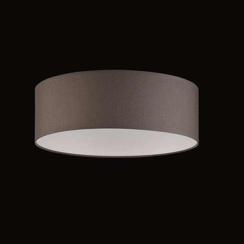 runder lampenschirm chintz stoff grau braun 60 cm. Black Bedroom Furniture Sets. Home Design Ideas