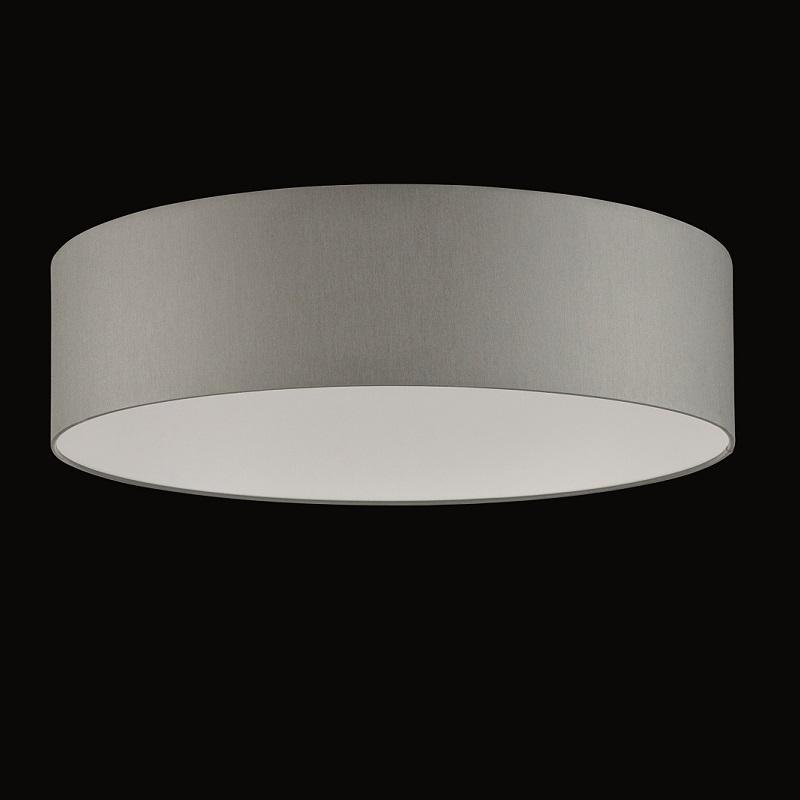 runder lampenschirm chintz stoff grau 50 cm wohnlicht. Black Bedroom Furniture Sets. Home Design Ideas