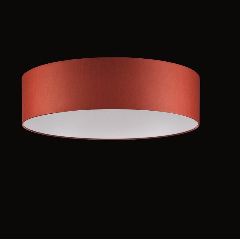 runder lampenschirm chintz stoff rot 50 cm wohnlicht. Black Bedroom Furniture Sets. Home Design Ideas