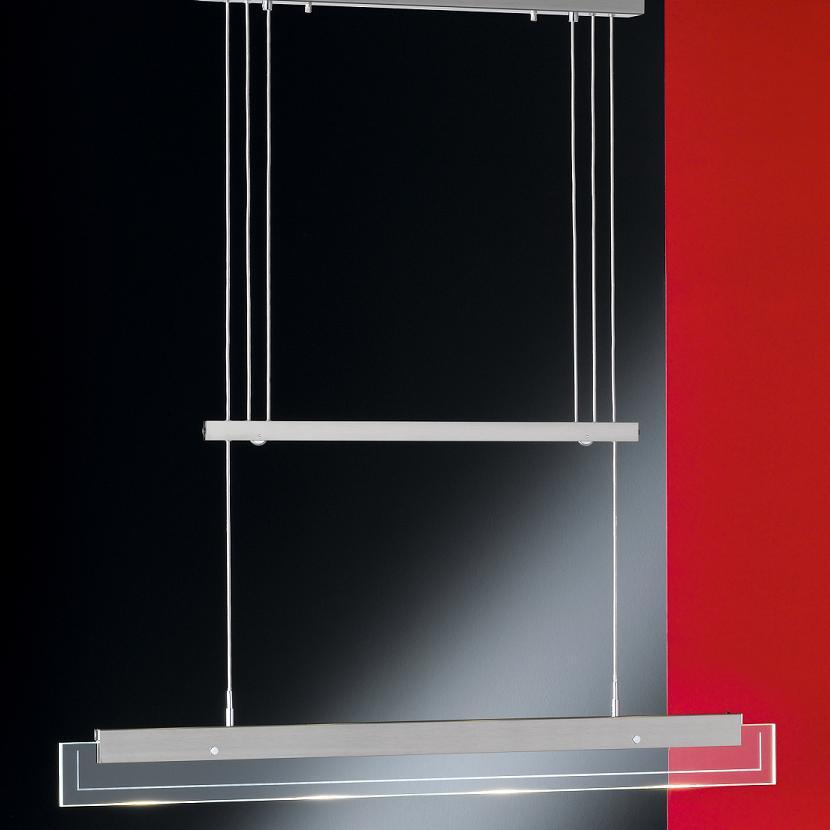 schlanke led pendelleuchte h henverstellbar dimmbar wohnlicht. Black Bedroom Furniture Sets. Home Design Ideas