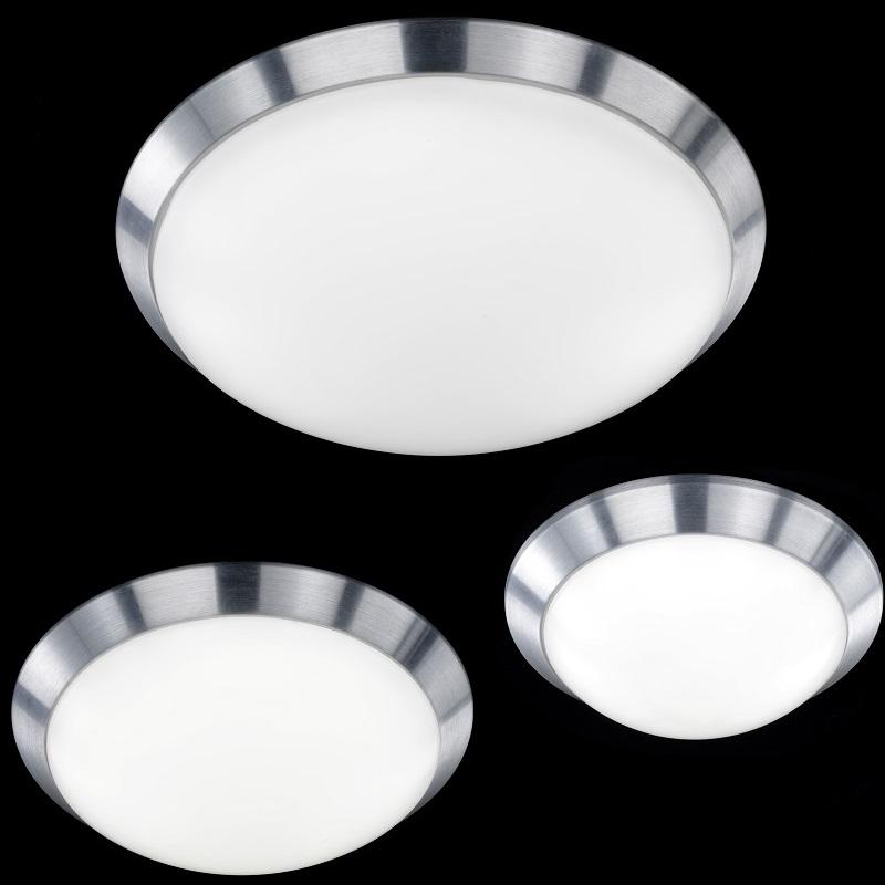schlichte led deckenleuchte f r eine gleichm ige raumbeleuchtung in aluminium geb rstet 3. Black Bedroom Furniture Sets. Home Design Ideas