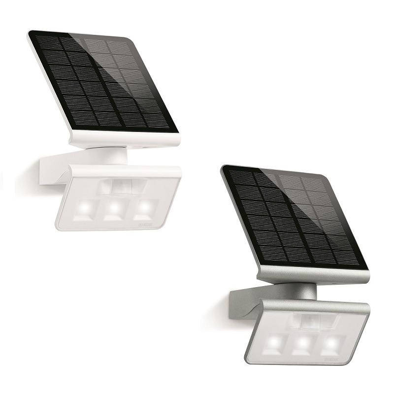 schwenkbare led solarleuchte wandleuchte mit. Black Bedroom Furniture Sets. Home Design Ideas