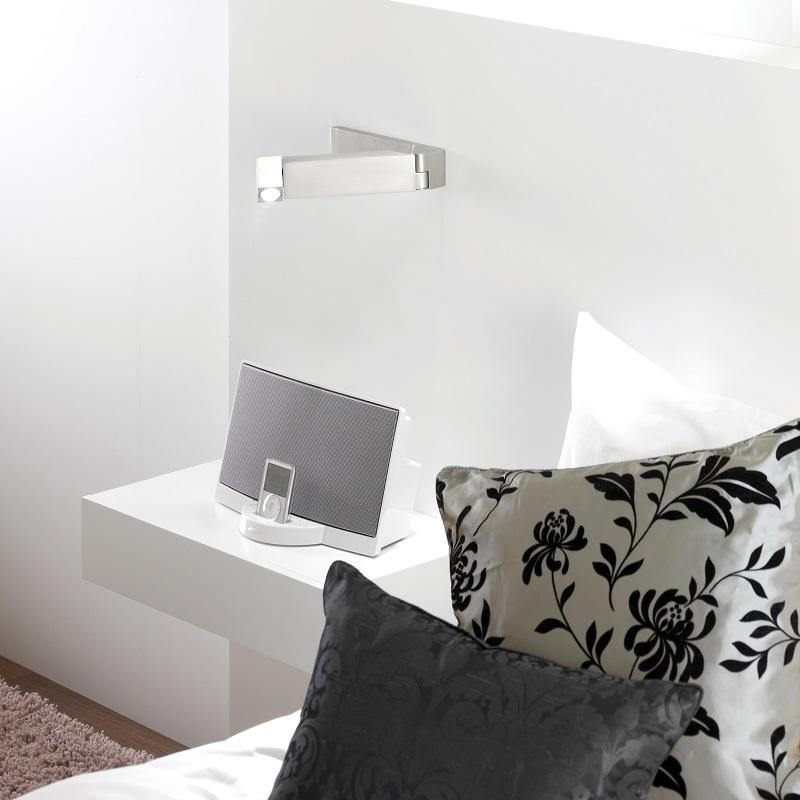 schwenkbare led wandleuchte tosca in 3 ausf hrungen. Black Bedroom Furniture Sets. Home Design Ideas