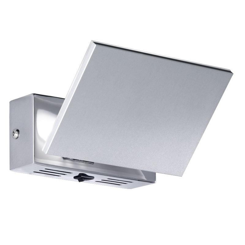 schwenkbare wandleuchte mit schalter in aluminium. Black Bedroom Furniture Sets. Home Design Ideas