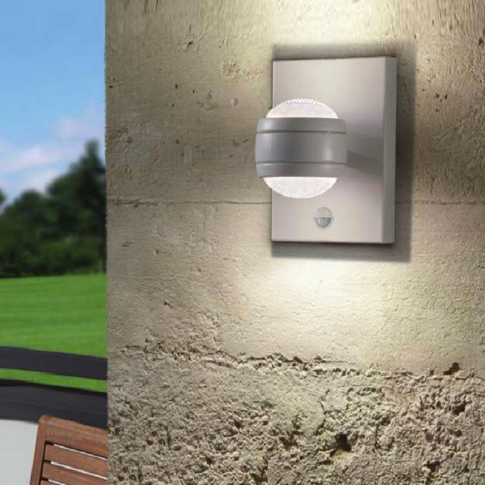 sensor led au enwandleuchte sesimba mit bewegungsmelder wohnlicht. Black Bedroom Furniture Sets. Home Design Ideas