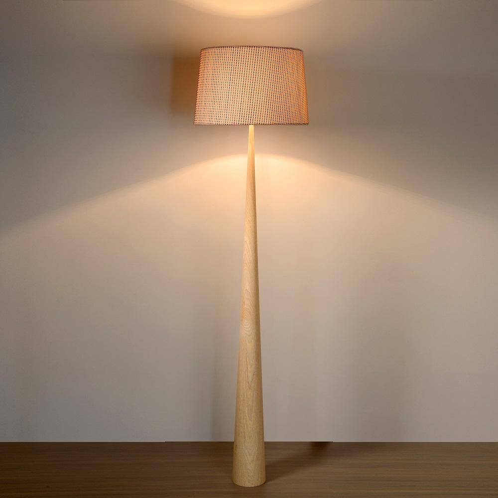 standleuchte conos von lucide mit schirm wohnlicht. Black Bedroom Furniture Sets. Home Design Ideas