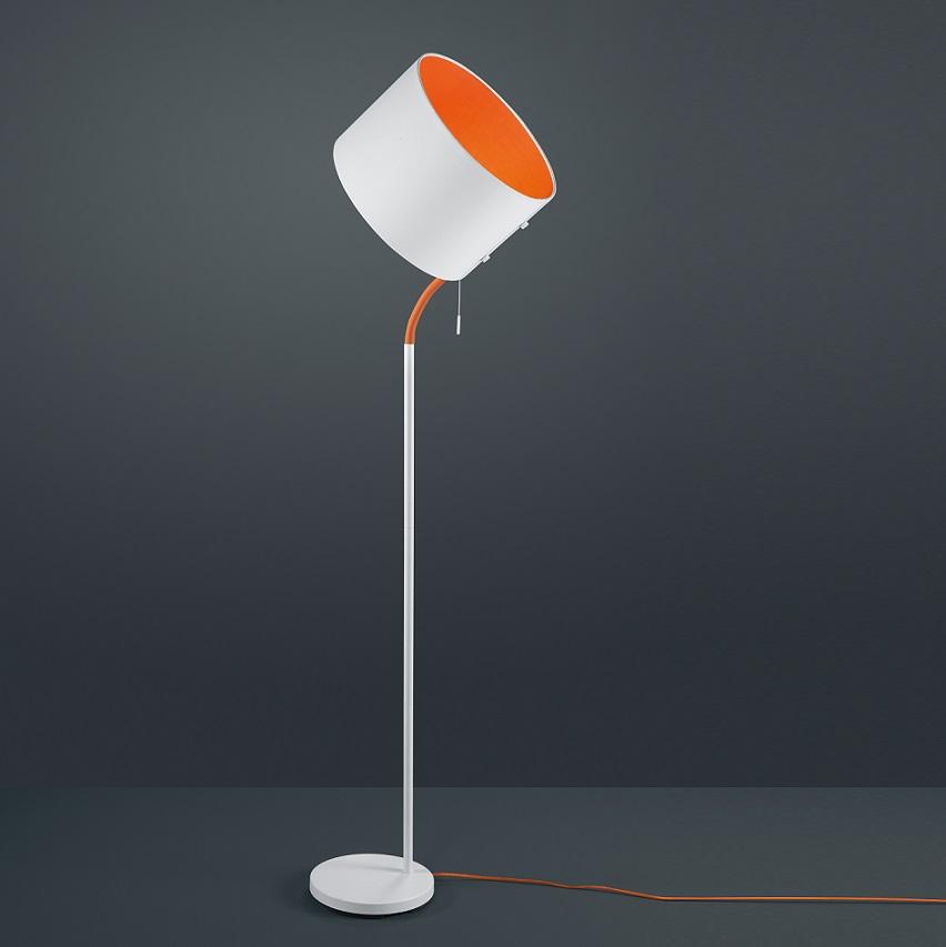standleuchte mit knick schirm in wei orange wohnlicht. Black Bedroom Furniture Sets. Home Design Ideas