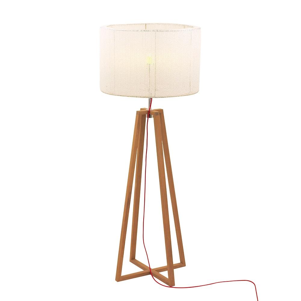 stehleuchte aus teakholz mit schirm 70 cm wohnlicht. Black Bedroom Furniture Sets. Home Design Ideas